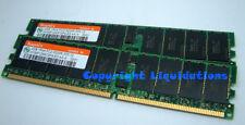 Hynix 2x2GB DDR 400 PC2-3200R-333 CL3  ECC Reg Server Memory RAM HP DELL IBM