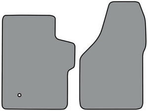2008-2016 Ford F-550 Super Duty Cutpile Carpet Floor Mat 2pc