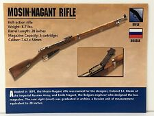 MOSIN-NAGANT RIFLE 7.62 x 54mm Firearms ATLAS PHOTO SPEC HISTORY CARD