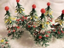 12  Christmas Tree Cupcake Picks Winter/Christmas Vintage Lookin Festive Holiday