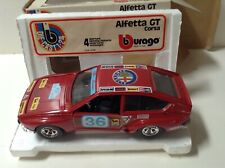 Lot Vintage 🚗 BBURAGO Alfetta GT Race 1:25 Diecast Beautiful 🚗 Top Rare!