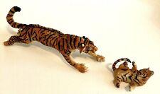 "SIBERIAN TIGER LARGE 12"" LEAPING ACTION FIGURE SAFARI Ltd & Baby Tiger Fig"