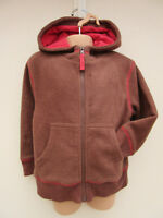 Mini Boden - Childs Rich Brown Mix Hooded Fleece Jacket -  size 3/4 Years