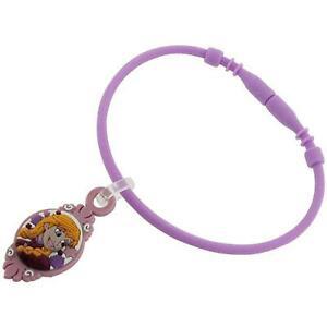 Disney Frozen Girls Anna Collectable Charm B Purple Rubber Bracelet FJ1568