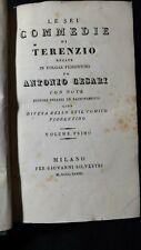 Terenzio: Le sei commedie recate in volgar fiorentino da Antonio Cesari,1833