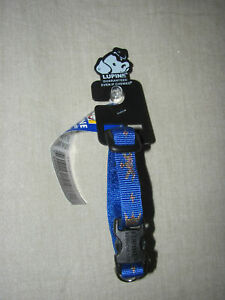 """New Lupine Noble Beast 1/2"""" Adjustable Dog Collar Blue Gold King Crown 6""""-9"""" XXS"""