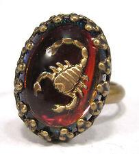 SoHo® Ring vintage altgold bronze bermuda Skorpion volcano Sternzeichen Scorpio