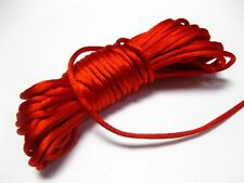 10 Meters Red String Chinese Knot Cord Necklace Knot RATTAIL Synthetic Silk