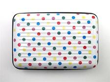 Indexer Accordion Credit Card Business Card ID Case Holder RFID ~ Colored Dots