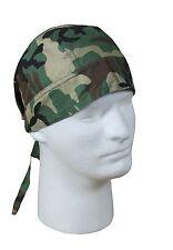 Headwraps - Camo Military Camouflage - All Colors - Do-Rag, Biker Bandana