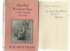 SIGNED R.H.MOTTRAM ANOTHER WINDOW SEAT OBSERVED 1919-1953 FIRST EDITION HB DJ 57