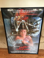 A Nightmare on Elm Street Movie Poster Autographed by Heather Langenkamp 28 x 41