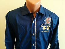 ARGENTINA GUARDS POLO TEAM*LA*MARTINA* MEN'S SHIRT LONG SLEEVE BLUE SIZE S