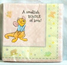 ~WINNIE THE POOH~ BABY ROO  16- DESSERT  PINK  PAPER  NAPKINS   PARTY SUPPLIES