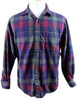 MINT Pendleton 100% Wool Long Sleeve Button Up Shirt MENS MEDIUM Green Red Plaid