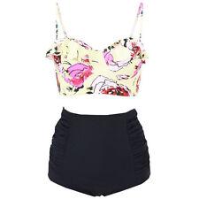 PLUS SIZE Women High Waist Padded Bikini Set Push Up Swimsuit Beachwear Swimwear
