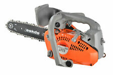 "Top Handle Petrol Chainsaw Topping Limbing 26cc Engine 10"" Bar 2 Chains Bag Pro"