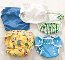 Lot of 5: Diapers Covers And Swimsuit