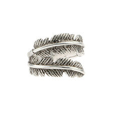 Sterling Silver Bird Feather Retro Arrow Rocker Wrap Shaped Ring Gift For Lover