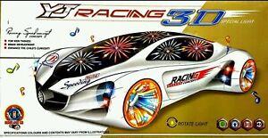 RACING CAR TOY 3D MUSICAL VEHICAL LIGHTS BOY GIRL CHILDREN KIDS BIRTHDAY GIFT