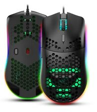 6400DPI RGB Wired Gaming Mouse Programmable and with Honeycomb Shell 6 buttons