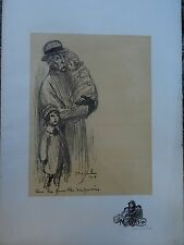 STEINLEN LITHO ORIGINALE POUR LES FAMILLES DISPERSEES SIGNEE / CONTRESIGNEE N°