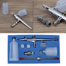 Kit Aérographe Pistolet Gravité Double Action Airbrush Pour Peinture Ongles