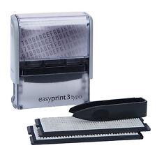 easyPrint 3 typo // Stempel Set zum selbersetzen // Firmenstempel 5 Zeilen