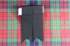Nuevo Kilt Montaña Escocés Poliéster Hose / Calcetines Bandas con Ligas Negro