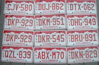 Lot of 12 COLORADO red  license plates