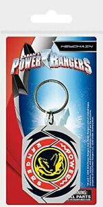 OFFICIAL LICENSED - POWER RANGERS LOGO - RUBBER KEYRING - MIGHTY MORPHIN