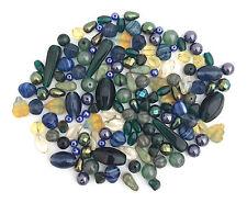 Assorted Jablonex Vintage Czech Glass Bead Mix Fall Blue 100g, 3.5oz