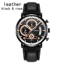 Male or Woman Quartz Wristwatch Color: Black Watchband & Black Watch Dial