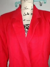 Harve Benard red Coat Jacket Womens Size 12 WOOL & CASHMERE NWT $178 MSRP