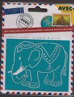 Metal * Avec * Embossing * Stencil * Elephant * India * 4.610.115 * Emboss * SET