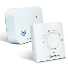 SALUS ERT20RF Mechanical Manual Remote Wireless Room Thermostat ERT 20 RF - BNIB