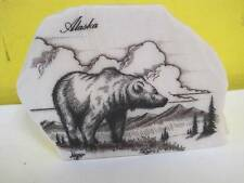 KIANA ALASKA ETCHED MARBLE BEAR KODIAK/GRIZZLY/BROWN ARTIST SIGNED ADAMS