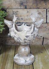 Double Deer Candle Holder Lantern Tabletop Pillar Light Centrepiece Stag Head