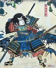LEON GOODMAN ORIGINAL Samurai  Miyamoto Musashi japanese Japan OIL PAINTING