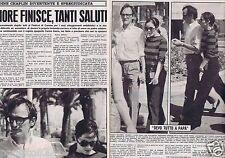 Coupure de presse Clipping 1968 Géraldine Chaplin  (2 pages ) en Italien