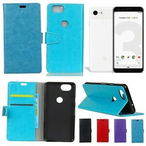Google Pixel 3 Leather Wallet Cover Soft Back Case with Stand