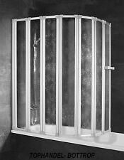 Schulte Badewannenaufsatz Badewannen Faltwand D1317 Kunststoffglas Softline Hell