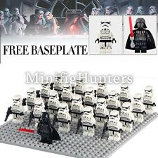 Custom Star Wars 21pcs Darth Vader & Imperial Stormtrooper MINIFIGS si adatta LEGO