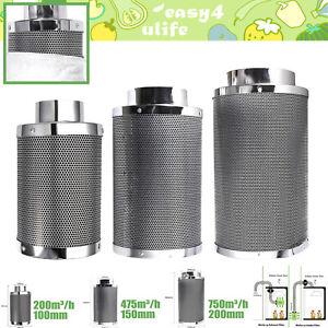 Aktivkohlefilter Carbon Grow Geruchs Abluft Filter AKF Aktiv Kohle ø 100-200 mm