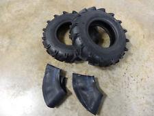 TWO 4.00-8 Garden Tiller Lug Tires & Tubes can replace 4.80-8, 4.80/4.00-8 READ