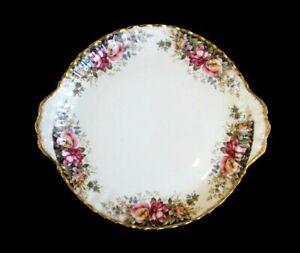 Beautiful Royal Albert Autumn Roses Cake Plate