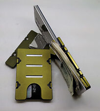Mens Aluminum Credit Card Holder, RFID protection, Green Anodized