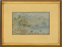 L.K - Framed 1925 Watercolour, Lake District Landscape