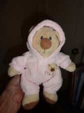 "Ty pluffies Pink Pj Bear 2005 Non Removable Pj's 8"" Stuffed Animal ""To Baby"""