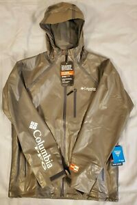 Columbia PFG Terminal OutDry EX Fishing Water Proof Rain Jacket Small FM0783 023